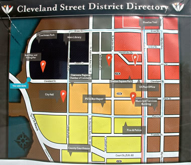 Map of Cleveland Street District