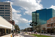 Downtown Clearwater business area