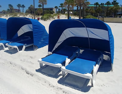 Cabana rentals on Clearwater Beach image