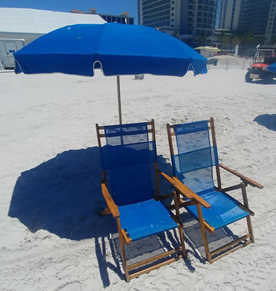 Beach chair and umbrella rentals on Clearwater Beach image